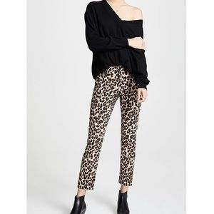 PAIGE Huxton Straight Ankle Jeans in Leopard
